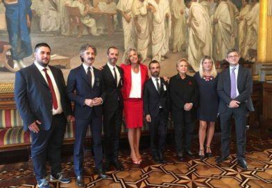 Dagli insulti per il matrimonio ad Ascoli, al Senato: Andrea e Francesco incontrano Monica Cirinnà
